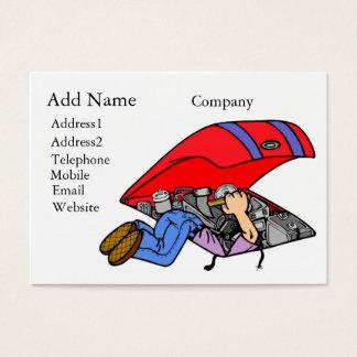 カスタマイズ可能な整備士のビジネスまたはプロフィールカード 名刺