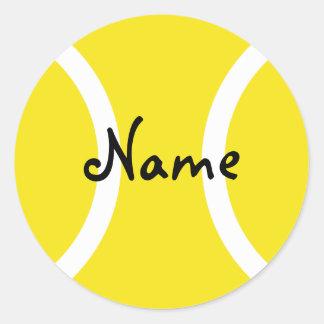 カスタマイズ可能な文字が付いている円形のテニス・ボールのステッカー ラウンドシール