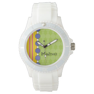 カスタマイズ可能な明るいおもしろいの水玉模様 腕時計