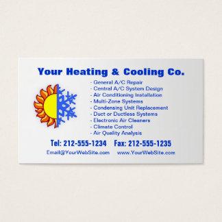 カスタマイズ可能な暖房及び冷却の名刺 名刺