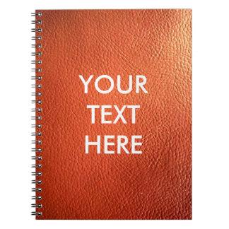 カスタマイズ可能な暗闇-オレンジ革イメージの背景 ノートブック