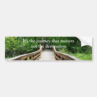 カスタマイズ可能な木橋の写真のプリント バンパーステッカー