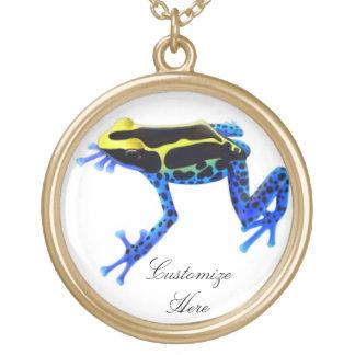 カスタマイズ可能な染まる毒カエルのネックレス ゴールドプレートネックレス