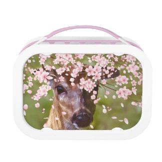 カスタマイズ可能な桜の下のシカ ランチボックス