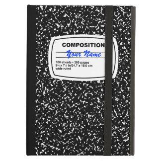 カスタマイズ可能な構成のノート iPad AIRケース
