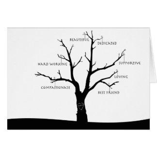 カスタマイズ可能な母の日カード-表現の木 カード