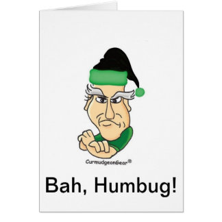 カスタマイズ可能な気難し屋のクリスマスカード グリーティングカード
