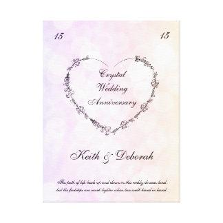 カスタマイズ可能な水晶結婚記念日 キャンバスプリント