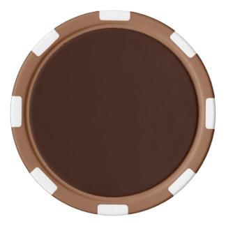 カスタマイズ可能な深く豊富なブラウン色の背景 ポーカーチップ