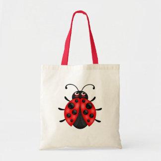 カスタマイズ可能な漫画の赤いてんとう虫のキャンバスのトートバック トートバッグ
