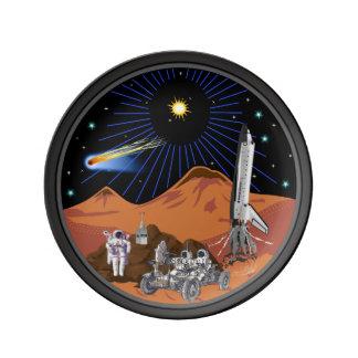 カスタマイズ可能な火星の版 磁器プレート