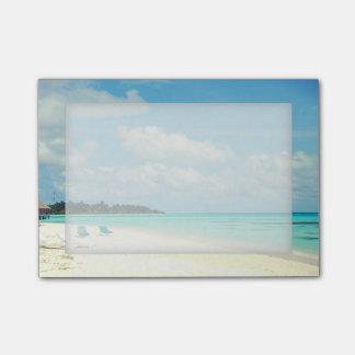 カスタマイズ可能な熱帯島の楽園の付箋 ポストイット