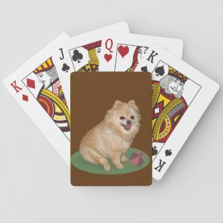 カスタマイズ可能な球を持つポメラニア犬犬 トランプ