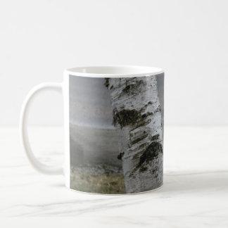 カスタマイズ可能な白い樺の木のマグ コーヒーマグカップ