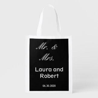 カスタマイズ可能な白黒再使用可能な結婚式のバッグ エコバッグ