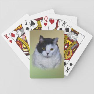 カスタマイズ可能な白黒猫 トランプ
