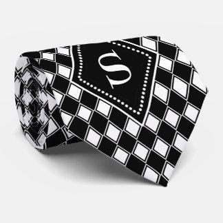 カスタマイズ可能な白黒道化師のモノグラム ネクタイ