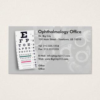 カスタマイズ可能な眼科学の名刺 名刺