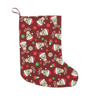 カスタマイズ可能な砂糖のスカルサンタ スモールクリスマスストッキング