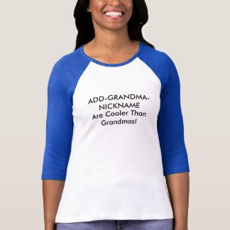 カスタマイズ可能な祖母のニックネーム Tシャツ