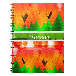 カスタマイズ可能な秋の松の木の色 ノートブック