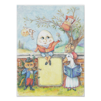 カスタマイズ可能な童謡ポスター ポスター