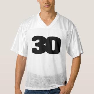 カスタマイズ可能な第30誕生日のフットボールジャージー メンズフットボールジャージー