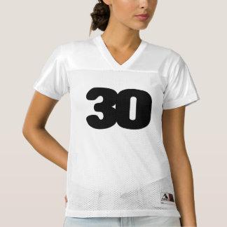 カスタマイズ可能な第30誕生日のフットボールジャージー レディースフットボールジャージー