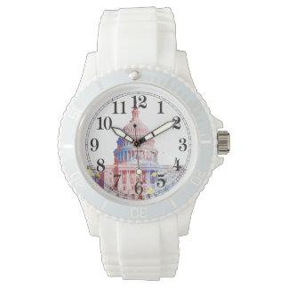 カスタマイズ可能な米国の国会議事堂色 腕時計