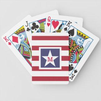 カスタマイズ可能な米国の旗のモノグラム バイスクルトランプ