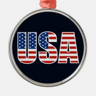 カスタマイズ可能な米国の米国旗 メタルオーナメント