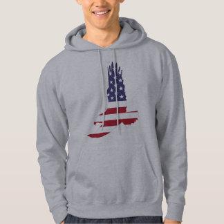カスタマイズ可能な米国旗のワシ パーカ