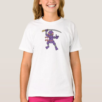 カスタマイズ可能な紫色の忍者 Tシャツ