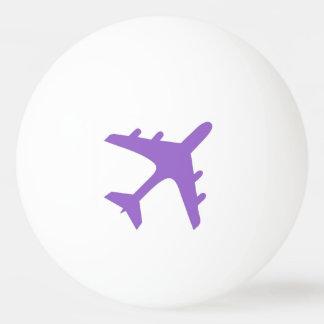 カスタマイズ可能な紫色の飛行機のピンポン球 ピンポンボール