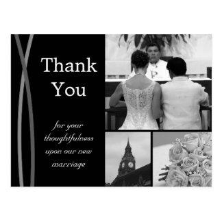 カスタマイズ可能な結婚式のサンキューカードの写真の写真