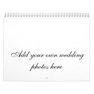 カスタマイズ可能な結婚式の写真のカレンダー カレンダー