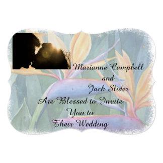 カスタマイズ可能な結婚式招待状極楽鳥 カード