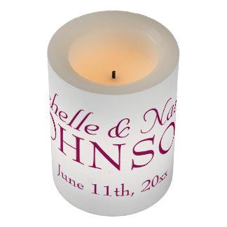 カスタマイズ可能な結婚披露宴の蝋燭 LEDキャンドル