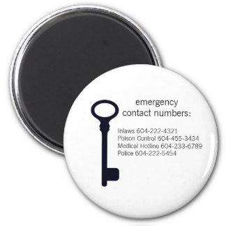 カスタマイズ可能な緊急の接触は磁石に番号を付けます マグネット