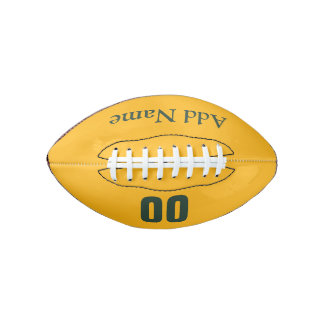 カスタマイズ可能な緑か金ゴールドの小型フットボール アメリカンフットボール
