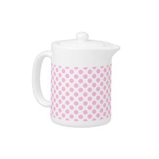 カスタマイズ可能な背景が付いているピンクの水玉模様