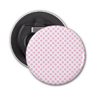 カスタマイズ可能な背景が付いているピンクの水玉模様 栓抜き
