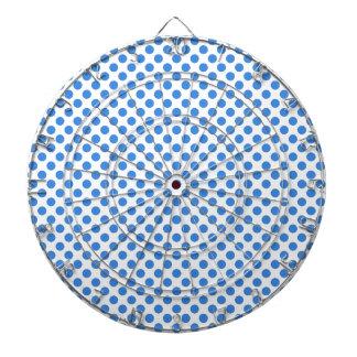 カスタマイズ可能な背景が付いている青い水玉模様 ダーツボード
