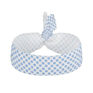 カスタマイズ可能な背景が付いている青い水玉模様 ヘアタイ