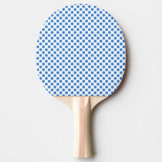 カスタマイズ可能な背景が付いている青い水玉模様 卓球ラケット