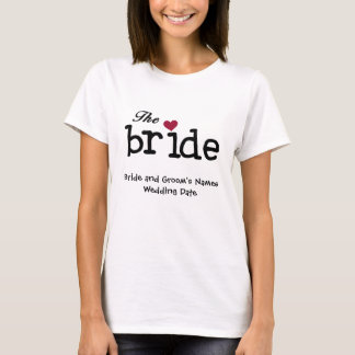 カスタマイズ可能な花嫁のTシャツ Tシャツ