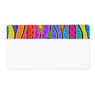 カスタマイズ可能な虹は縞で飾りますAVERYのラベル(上)を ラベル