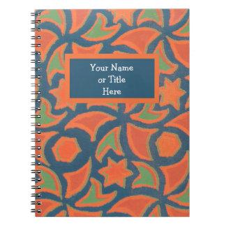 カスタマイズ可能な螺線形ノート、民族のデザイン ノートブック