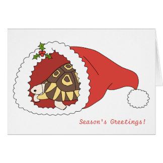 カスタマイズ可能な角があるカメのクリスマスカード カード
