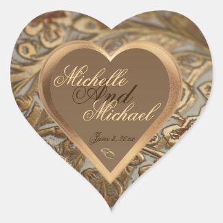 カスタマイズ可能な記念品の結婚式の封筒用シール ハートシール